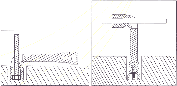 Angle Socket Wrenches Line Drawing