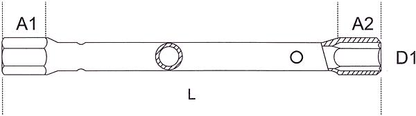 TUBULAR BOX SPANNERS 260001 Line Drawing